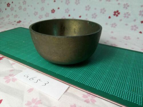 """2.933""""Japanese Buddhist Bell Zen Gong Rin G653 Good Sound  VTG"""