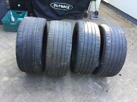 Continental 275/45 R20 V XL part worn tyres x 4