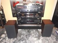 denon kenwood hifi sepatates castle speakers
