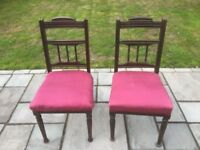 Antique dining room chairs in need of a bit of TLC
