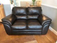 3+2 Brown Leather Sofa
