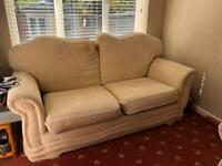 Sofa and arm chair free to collector