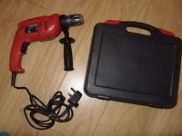 Black & Decker KR550CRE Corded Electric Drill 550W + 10 Assorted Drill Bits - Full Working Order