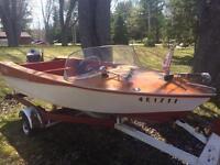 Wood hull boat
