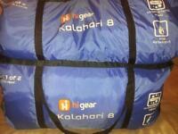 hi gear kalahari 8 tent and equipment