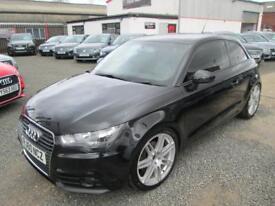 Audi A1 1.6 TDI SPORT 3dr + S LINE ALLOYS + FULL SERVICE HISTORY (black) 2011