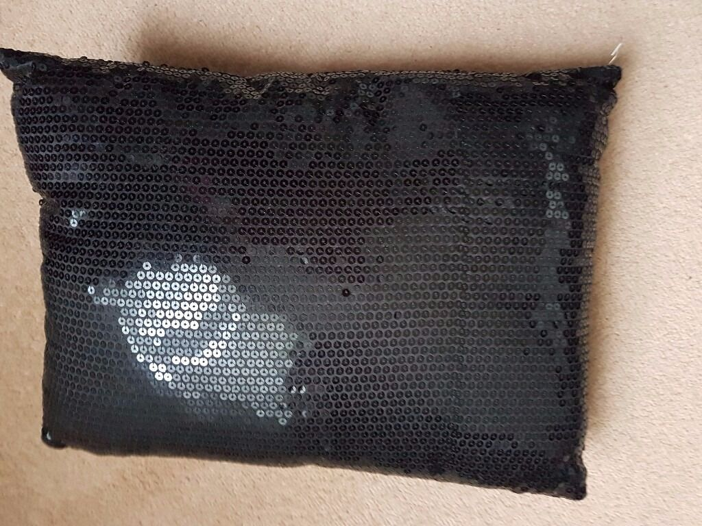 sequined cushion