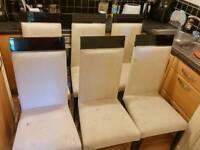 Six dinning chairs. High quality