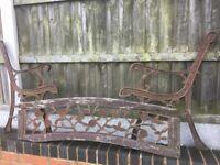 Lovely Old Rose & Vine Design Cast Iron Garden Bench 3 SetsAvailable Can Deliver