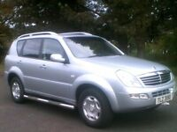 **EXCELLENT 2007 SSANGYONG 7 SEATER DIESEL 4X4 JEEP**ONE LADY OWNER**MOTD AUG 2017**NISSAN,HYUNDAI