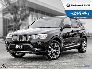 2016 BMW X3 xDrive28i Not Rental! CPO Extended Warranty! Premi