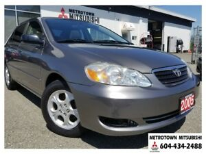 2005 Toyota Corolla CE; Local BC vehicle! LOW KMS!