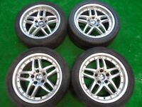 "GENUINE BMW CROMODORA WHEELS 5 SERIES 17"" ALLOY WHEELS"