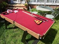 Hy-Pro 6ft Folding Snooker and Pool Table.