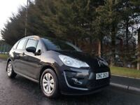 APRIL 2010 CITROEN C3 VT 1.4 8v PETROL 5SPEED 5DOOR METALLIC BLACK EXCELLENT CONDITION 1 YEARS MOT !