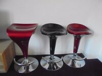 Gas lift adjustable kitchen/bar stools