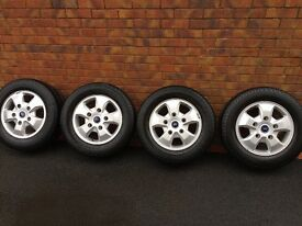 FORD TRANSIT CUSTOM LIMITED EDITION ALLOY WHEELS AND CONTINENTAL TYRES & CHROME BOLTS AND LOCK NUTS