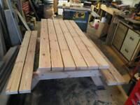 Picnic bench bespoke hand made