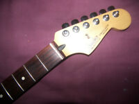 Fender Stratocaster Mexico , Mexican , MIM , Electric Guitar Neck + Tuners.