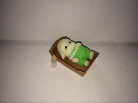Sylvanian Baby with Crib and bottle