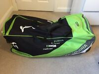 Complete Top Quality Cricket Set - Bag / Bat / Pads / Helmet / Spikes / Gloves + More - All AS NEW!