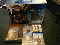 PlayStation 4 500gb console with 5 games