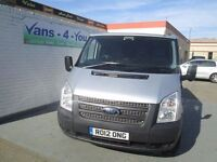 2012 ford transit short low rear wheel drive in silver uk van kitted out as fitters van 78500 miles