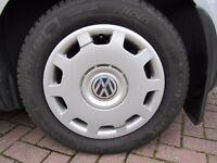 Four genuine Volkswagen wheel trims - Fit wheel size 195 / 65 R15 - Brand new.