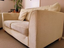 Really comfy Harvey's two seater sofa, arm chair and foot stool