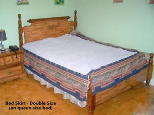 BED SKIRTS  $10 EACH SIZES: DOUBLE,  DOUBLE OR ¾, TWIN