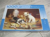 Painting Kittens 1000 Piece Cats/Kittens Jigsaw Puzzle-King Puzzles *New&Sealed*