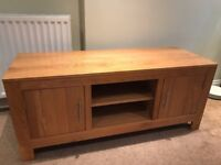 Solid oak TV Unit / Media Cupboard