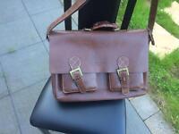 Faux leather executive bag