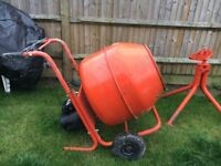 Concrete Mixer & Stand. Hardly Used.