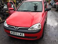 2003 Vauxhall Corsa 1.2 16v Elegance 5dr flame red y 547 79L BREAKING FOR SPARES
