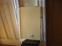Sturdy vintage frameless rectangle mirror, 38cm by 61cm, in VGC