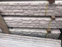 🍭Rock Face Concrete Fencing Base Panels * £9.50