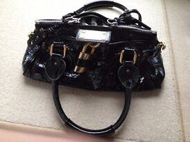 Chloe Black Patent Paddington Handbag