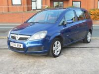 07 VAUXHALL ZAFIRA 1.6I 16V CLUB + NEW SHAPE + NEW MOT + 7 SEATER