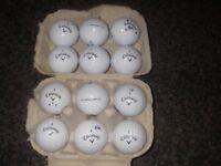 Two dozen Srixon/Callaway soft golf balls