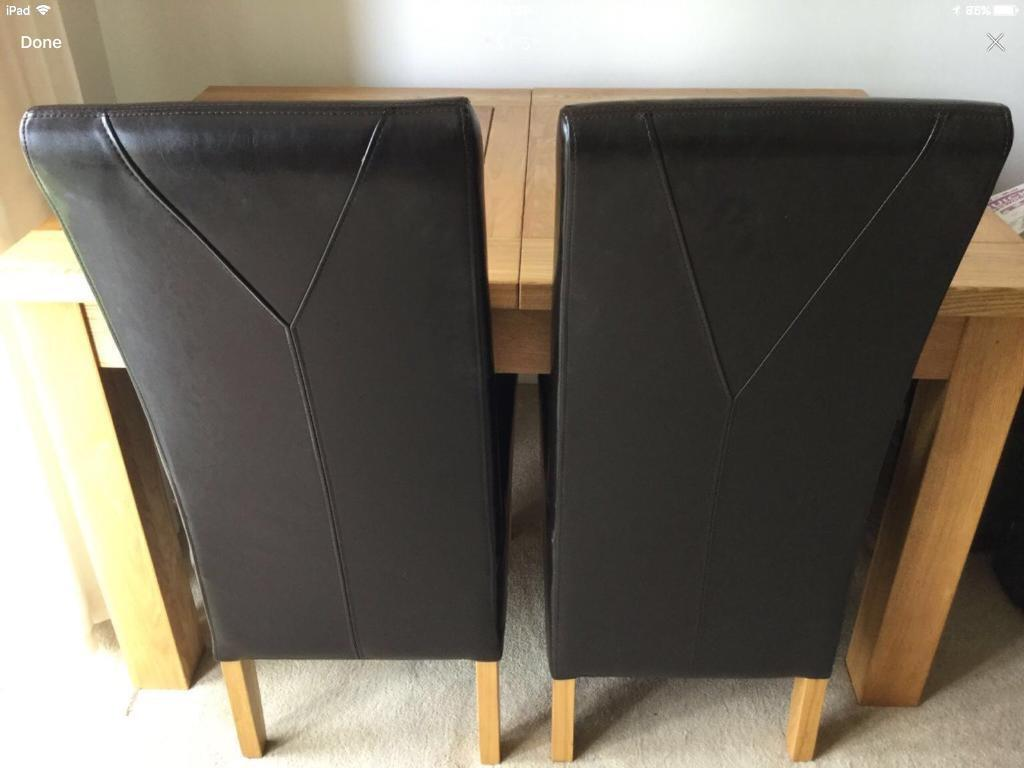 2. Leather Look Chairs