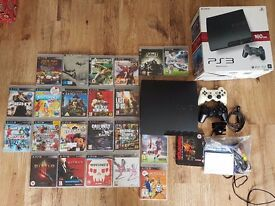 PlayStation 3 with 23 games and two controllers + PS Eye