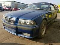 Breaking avus blue BMW E36 323 I convertible m sport