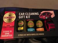 Brand new car cleaning gift pack - Simoniz pack & computer mouse