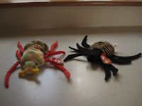 Ty Beanie Baby Spider & Beetle