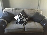 Grey and black Used sofa bed like new
