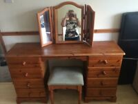 Dressing table , pine , wooden.