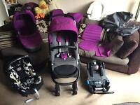STUNNING DELUXE BRITAX AFFINITY Pram PUSHCHAIR TRAVEL SYSTEM in COOL BERRY with LOTS OF EXTRAS