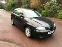 SEAT IBIZA SE 3 DOOR 2003 1.4 BLACK LONG MOT DRIVES LOVELY BARGAIN