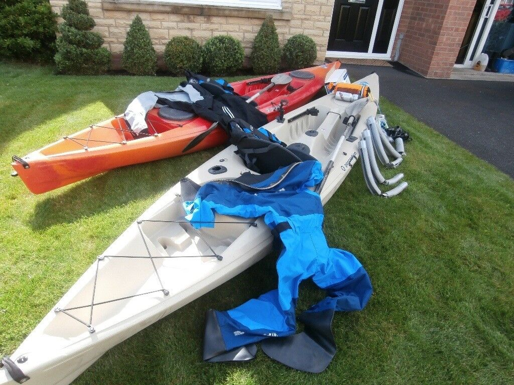 Kayaks  2 sit on top Perception kayaks with accessories  | in Blyth
